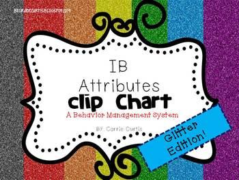 IB Attitudes Behavior Clipchart: Glitter Edition