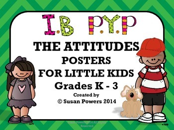 IB Attitudes Posters for Little Kids