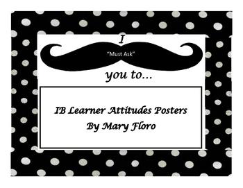 IB Attitudes- mustache with polka dot theme