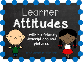 IB Attitudes with kid friendly descriptions and pictures