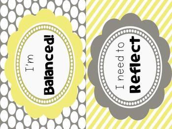 IB Attributes Clipchart: Yellows & Grays