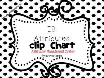 IB Behavior Clip Chart: English AND Spanish