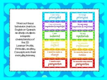IB Behavior Clip Chart- PYP