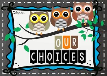 IB Behaviour chart owls theme!