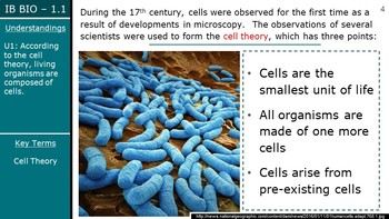 IB Biology (2016) - 1.1 - Intro to Cells PPT