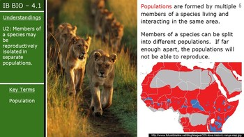 IB Biology (2016) - 4.1 - Species, Communities & Ecosystems PPT