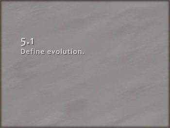 IB Biology - 5.1 - Evolution - Evidence of Evolution - PowerPoint Presentation