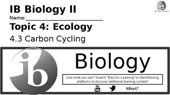 IB Biology Ecology 4.3 Video Lecture Student Handout (video link in description)