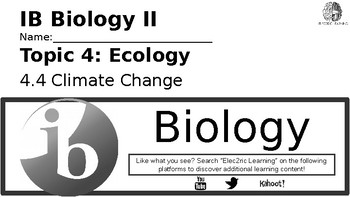 IB Biology Ecology 4.4 Video Lecture Student Handout (video link in description)