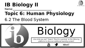 IB Biology Human Physiology 6.2 Video Lecture Student Handout (video link below)