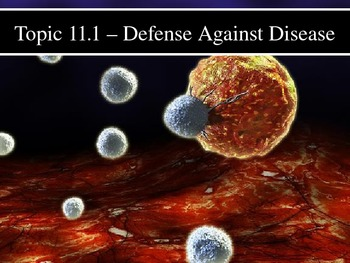 IB Biology (2009) - Topic 11.1 - Defense Against Disease PPT