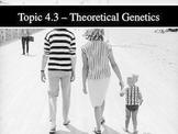 IB Biology (2009) - Topic 4.3 - Theoretical Genetics PPT