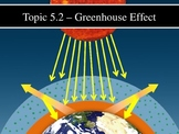 IB Biology (2009) - Topic 5.2 - Greenhouse Effect PPT