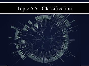 IB Biology (2009) - Topic 5.5 - Classification PPT