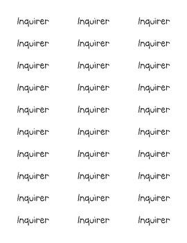 IB Book Labels
