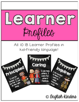 IB Chalkboard Learner Profiles (Kid Friendly)
