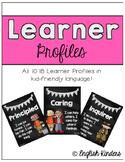 IB Chalkboard Learner Profiles (Kid Friendly)