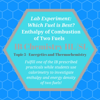 IB Chemistry Lab: Enthalpy of Combustion of Two Fuels (Editable)