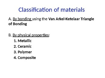 IB Chemistry PPT Option A Materials  A.1 to A.10