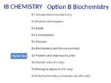 IB Chemistry PPT Option B Biochemistry B.1 to B.10