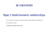IB Chemistry PPT Topic 1 Stoichiometric relationships 1.1 to 1.3