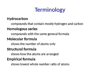 IB Chemistry PPT Topic 10 Organic chemistry 10.1 to 10.2 20.1 to 20.3