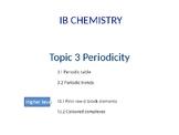 IB Chemistry PPT Topic 3 Periodicity 3.1 3.2 13.1 13.2