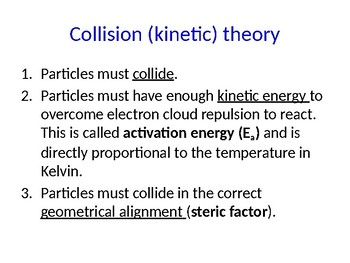 IB Chemistry PPT Topic 6 Chemcial kinetics 6.1 16.1-2