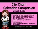 IB Classroom Clip Chart Calendar Companion - Updated for 2018/2019
