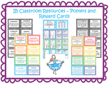 IB Classroom Posters and Rewards Bundle