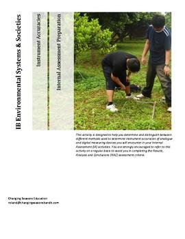 IB DP Environmental Systems & Societies - IA Preparation - Instrument Accuracies