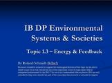 IB DP Environmental Systems & Societies Topic 1.3 Feedback Types
