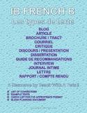 IB DP French B / AP French - Text types  - 12 types de texte (Word+pdf versions)