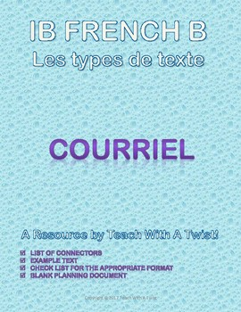 IB DP French B / AP French - Text types  - COURRIEL