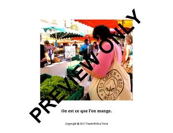 IB DP /MYP French B Images for orals: Option La santé-4 pictures-3 captions each