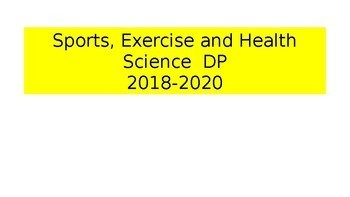 IB DP Sports, Exercise and Health Science course intro presentation