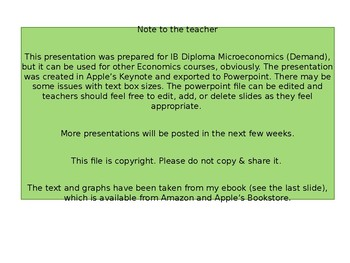 IB Diploma Microeconomics - Demand