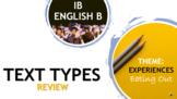 IB ENGLISH B TEXT TYPES TEACHING UNIT: RESTAURANT REVIEW