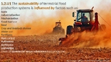 IB ESS Topic 5.2 Terrestrial food production systems and f