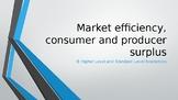 IB Economics Consumer Surplus and Producer Surplus 24 HL / SL slides