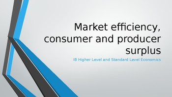 IB Economics Consumer Surplus and Producer Surplus 24 HL / SL slides