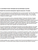 IB Economics Model Essay: Developing Countries, Measures o