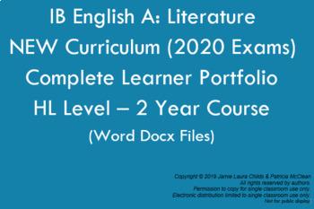 IB English Literature HL New Curriculum: Learner Portfolio WORD DOCUMENTS