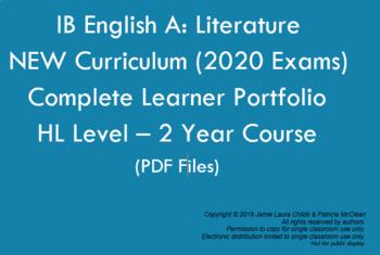 IB English Literature HL New Curriculum: Learner Portfolio PDF DOCUMENTS