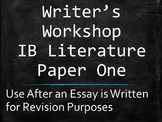 IB English Paper 1 / Paper One Writer's Workshop for a Poe