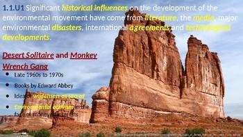 IB Environmental Systems and Societies Topic 1.1 Environmental value systems