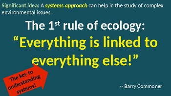 IB ESS Topic 1.2 Systems and Models