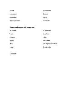 IB French Vocabulary Lesson - Sante en Question, Pearson Francais B