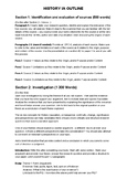 IB HISTORY IA HISTORICAL INVESTIGATION OUTLINE