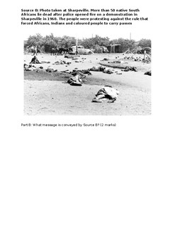 IB HISTORY PAPER ONE QUESTION ONE  APARTHEID SOUTH AFRICA - ASSESSMENT